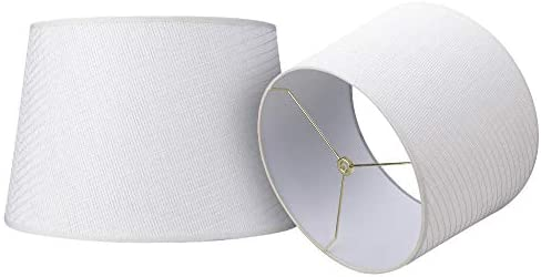 Double Medium Paper Lamp Shades Set of 2 Alucset Drum Lampshades for Table Lamp and Floor Light product image