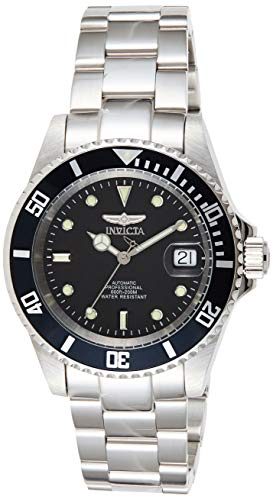 Invicta Men's Pro Diver 40mm Stainless Steel Automatic Watch with Coin Edge Bezel, Silver (Model:...