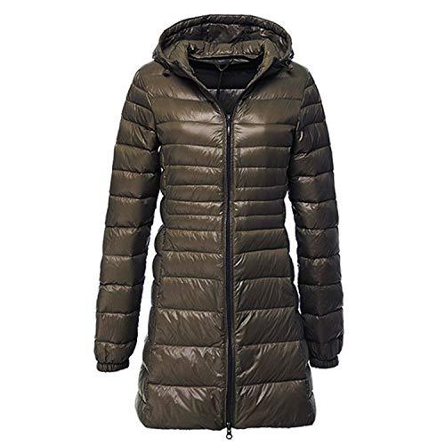 Winter Ultra Licht Lange Down Jas Vrouwen Casual Hooded Warm Jas