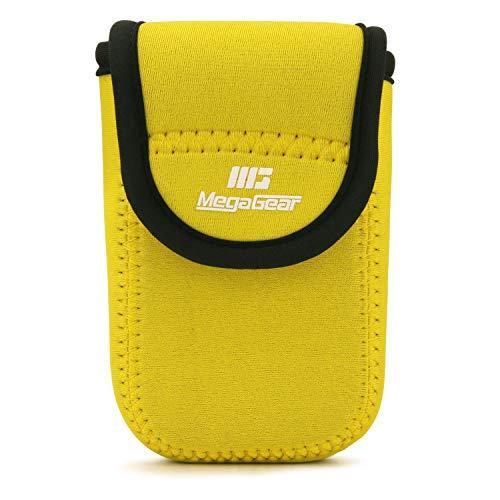MegaGear MG1861 Estuche de cámara Ultra Ligero, de Neopreno Compatible con Nikon Coolpix S7000, L32 - Amarillo