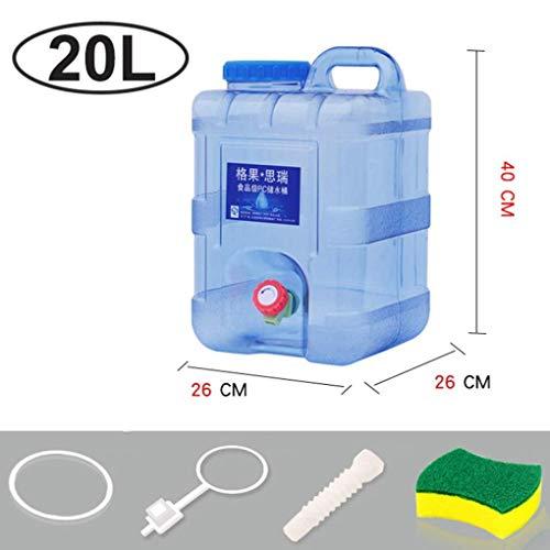 SHJMANPA Wasserkrug-Wasservorratsbehälter, tragbare Camping-Wasserflasche, lebensmittelechte, auslaufsichere Kunststoff-Trinkwasserfässer, 20L