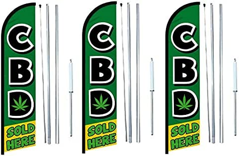 CBD Bargain sold here Windless banner Flag pack Some reservation Complete With Hybri of 3