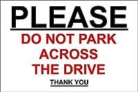 ドライブを横切って駐車しないでください 金属板ブリキ看板警告サイン注意サイン表示パネル情報サイン金属安全サイン