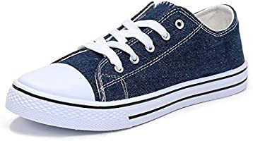 mysoft Womens Canvas Sneakers Lace-up Low Top Casual Walking Shoes