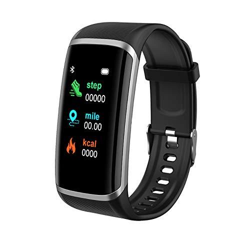 LGDD M8 Reloj inteligente para hombre y mujer, pantalla táctil de 1,14 pulgadas, monitor de frecuencia cardíaca, podómetro impermeable IP67, monitor de sueño, compatible con Android, iOS, Samsung