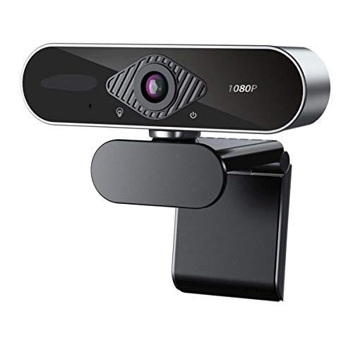 YHX Cámara Web 1080P, Cámara Web con Enfoque Automático, Transmisión De Video Full HD, Micrófono con Cancelación De Ruido, Funciona con OBS, Skype, Youtube, Twitch, para PC/Mac/Laptop/Desktop