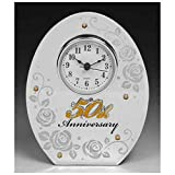 Shudehill Giftware Reloj para el quincuagésimo Aniversario de Boda