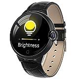 YQYM - Reloj inteligente para mujer y hombre, pantalla táctil completa, Bluetooth, IP68, resistente al agua, con pulsómetro, monitor del sueño, cronómetro, para Android IOS