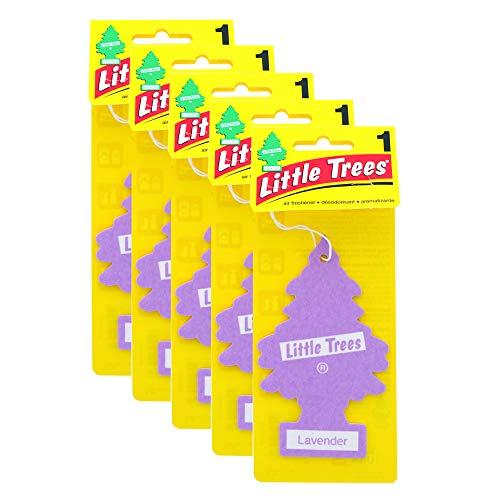OCD Bargain Little Trees Car Air Fresheners, Hanging Car Fresheners, Hanging Air Freshener for Home and Car 5 Pack (Lavender)