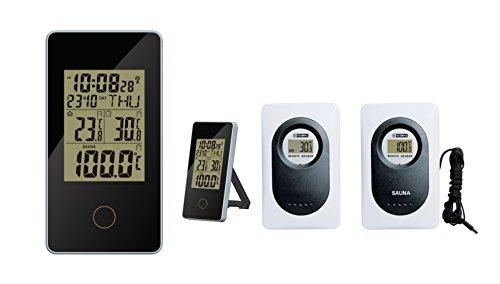 froggit Funk Sauna Thermometer WS80, Außensensor, Uhrzeit, Saunamessung