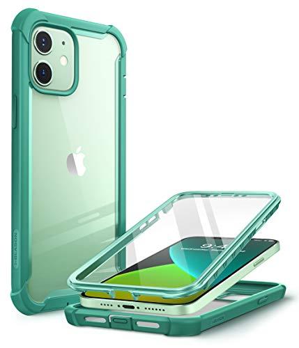 CapaCapinhaCasei-BlasonAresprojetadaparaiPhone12Mini(2020),capadeproteçãoduplaresistenteetransparentecomprotetordetelaintegrado(MintGreen)