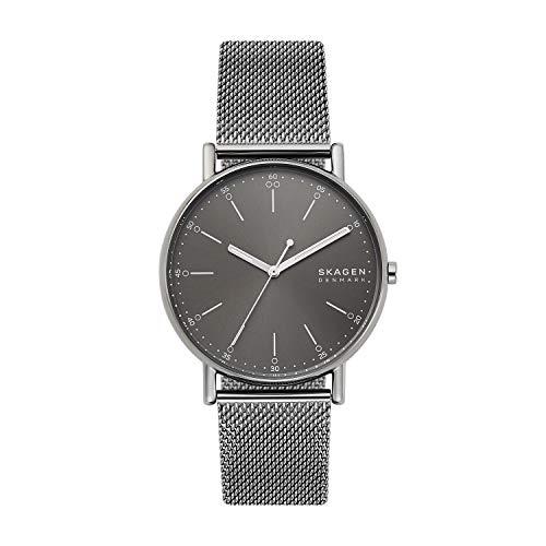Skagen Herren Analog Quarz Uhr mit Edelstahl Armband SKW6577