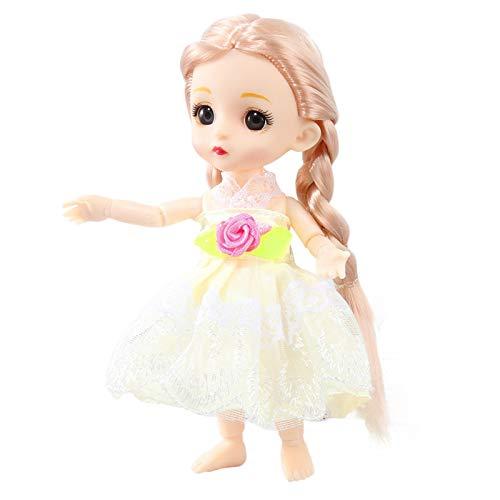 Mini mueca de princesa de princesa con falda de tul y juguetes educativos para nios y nias