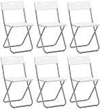 savino Felipe SRL 6sillas silla Plegable blanca IKEA gunde de acero hierro y Metal para Sala de espera casa Invitados cocina Salón Camping Bar restaurante catering vaquero Plegable