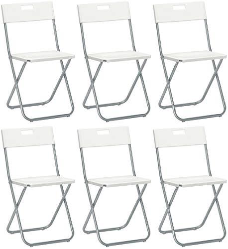 SAVINO FILIPPO SRL 6 Klappstuhl Weiß IKEA Gunde aus Stahl und Metall für Sala Attesa Haus Haus Haus Haus Haus Haus Haus Haus Haus Haus Restaurant, Bar Restaurant Catering verschließbar