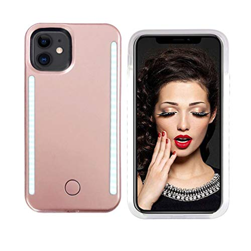 Vanjunn Selfie Light up Case for iPhone 11, LED Case with Rechargeable Back and Front Illuminated Luminous Lights for iPhone 11(Rose Gold)