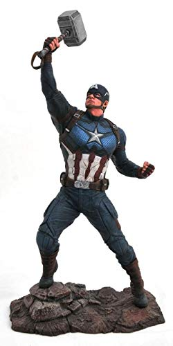 Marvel Avengers Endgame Captain America PVC Figura, Multicolor (Diamond Select Toys JUL192669)