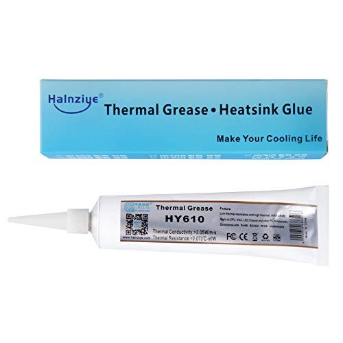 HALNZIYE HY610 - Pasta térmica en tubo de 100 g de oro   3,05 W m-K. Rango de temperatura -30 + 240 °C. Contenido total 100 g. Grasa térmica térmica de refrigeración