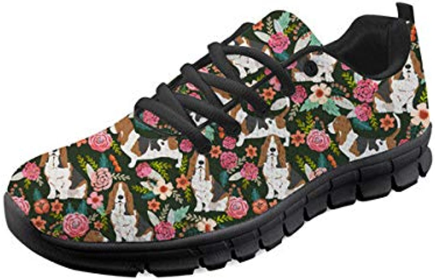 WHEREISART Comfortable Outdoor Sneakers Women Running Sport shoes Cute Pattern Size 5-11