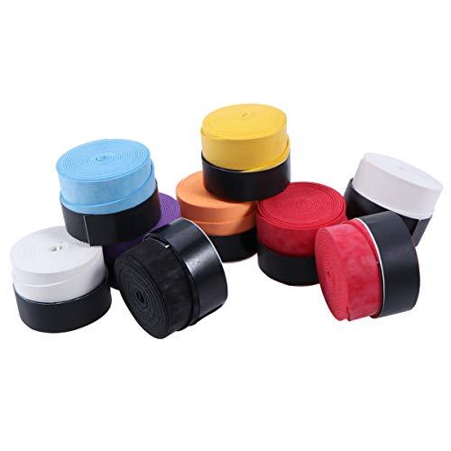 Garneck - Cinta antideslizante para raqueta de bádminton, 25 unidades, absorción de sudor, correa de envoltura para caña de pescar (color al azar)