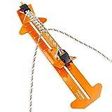 PSKOOK Paracord Bracelet Jig Kit Paracord Tool Kit Adjustable Length Weaving DIY Craft Maker Tool 4' to 13 Stainless Steel Accessories(Orange)