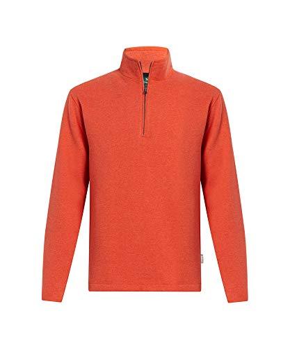 WOOLRICH Herren Boysen Half Zip Sweatshirt Ii - Orange - X-Large