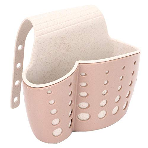 JYLSYMJa Drain Rack,Thickened Sink Drain Basket, Kitchen Sponge Storage Rack,Double-Layer Adjustable Drain Rack,Brown