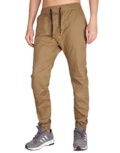 ITALY MORN Hombre Jogger Pantalones Khaki para el Trabajo Baggy L Caqui Oscuro