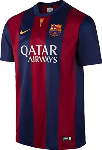 Nike FC Barcellona SS Home Stadium Jersey Blue Red 14/15 FC Barcelona L Blau - Bleu Franc/Soleil