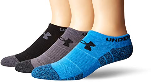 Under Armour Elevated Performance No Show Socks, 3-Pairs, Blue Marl/Assorted, Shoe Size: Mens 4-8, Womens 6-9