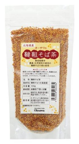 農薬・化学肥料不使用韃靼そばの実100%  オーサワの韃靼そば茶(北海道産) 100g(20袋セット)