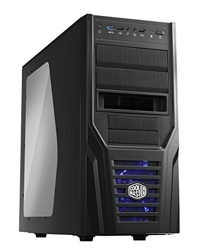 Cooler Master Elite 431 Plus USB 3.0 Case per PC 'ATX, microATX, USB 3.0, con Finestra Laterale' RC-431P-KWN2