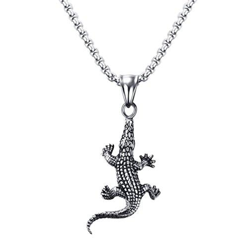 PAURO Collana creativa del pendente della tartaruga del drago animale dell'acciaio in titanio dell'acciaio inossidabile degli uomini di per il motociclista punk