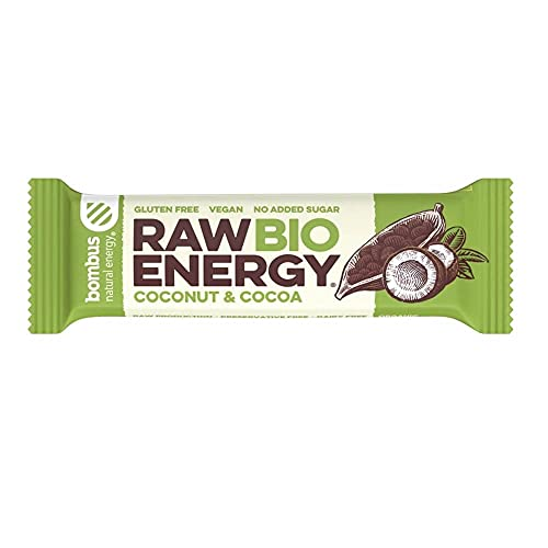 Baton RAW ENERGY BIO kokos kakao bezglutenowy 50 g Bombus