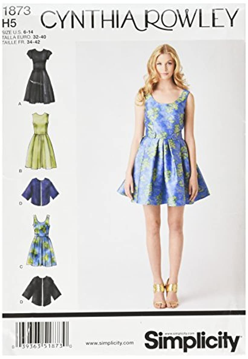 Simplicity Cynthia Rowley Pattern 1873 Misses Miss Petite Dress and Loose Fitting Cape Jacket Sizes 6-8-10-12-14