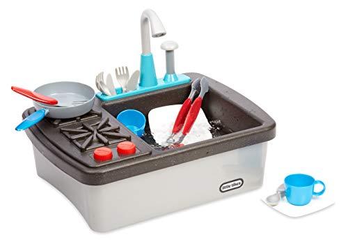 little tikes 654497E7C First Sink & Stove - Interaktiv & Realistisch mit Geräuschen - Schein-Spielgerät für Kinder