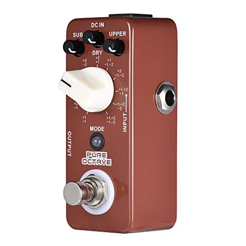 PURE OCTAVE Mini Octave Guitar Effect Pedal 11 Octave Modes True Bypass Full Metal Shell