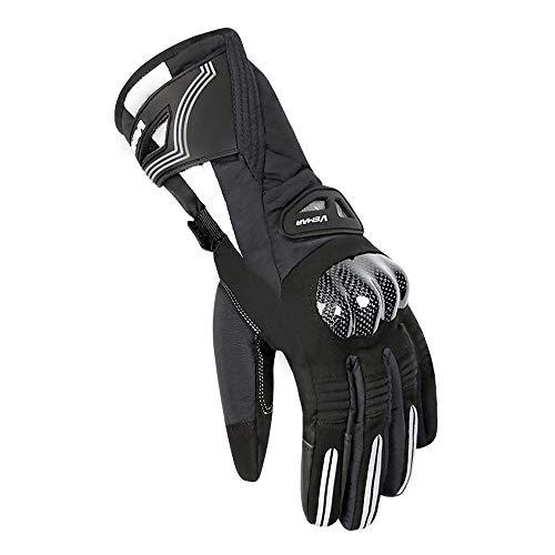 Herren Winter Motorradhandschuhe, Hard Knuckle Touchscreen wasserdichte Winddichte Handschuhe Motorradhandschuhe Motorrad ATV Reiten Vollfingerhandschuhe (M-2XL) B, XL