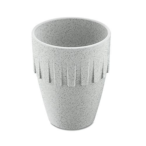 Koziol Becher Cappuccino Connect, Kaffeebecher, Tasse, Kaffeetasse, Thermoplastischer Kunststoff, Organic Grey, 300 ml, 4080670
