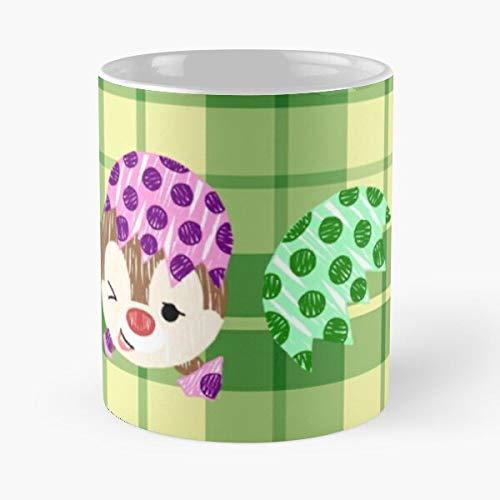 Taza de café de cerámica Kawaii Chipmunk Tsum Japón Tsumtsum Comer comida Bite John Best 11oz
