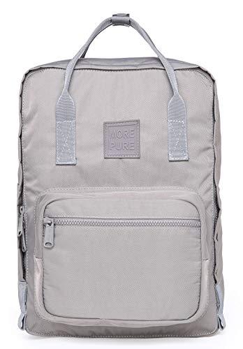 More Pure Rucksack Geldbrse, Passend FR 15-Zoll MacBook, 37x26x14 cm, Grau