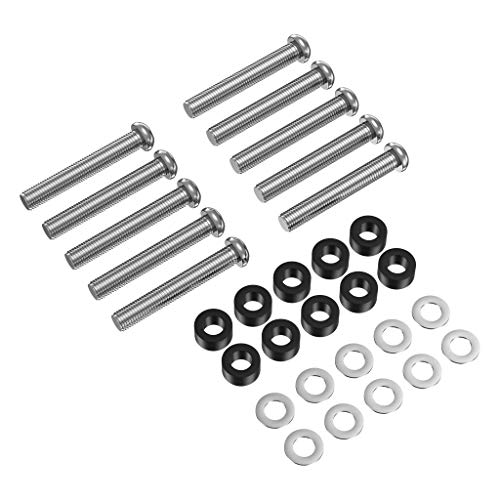M8 x 45mm Stainless Steel Phillips Machine Screw Bolts Compatible with Samsung KS8000 Series TV Wall Mount Bracket with Long Spacers, 10 pcs