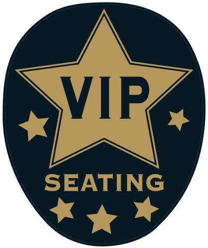 Beistle léopard 54422 VIP Toilette Topper Peel 'n Place, 12 par 43,2 cm