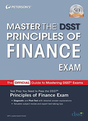 Master the Dsst Principles of Finance Exam (Master the DSST Finance Exam)