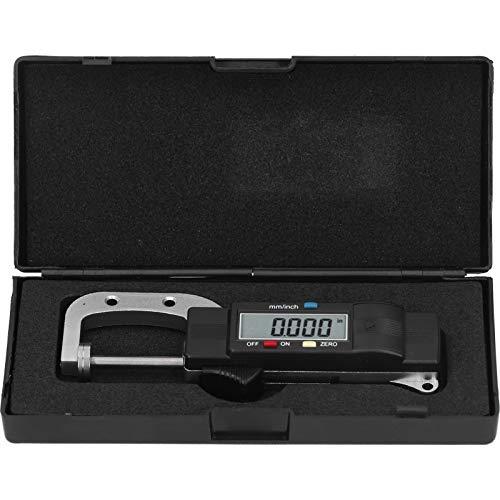 EXID Micrómetro, -25 mm/0-1 pulg. Micrómetro digital Espesor electrónico Regla de calibre exterior Herramienta de medición de 0,01 mm de grado induatrial