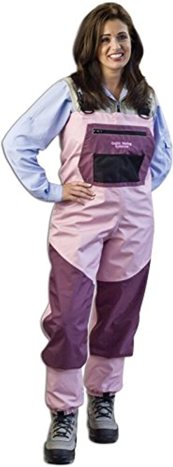 Caddis Women's Attractive 2 Tone Pink and Burgandy Deluxe Breathable Stocking Foot Wader
