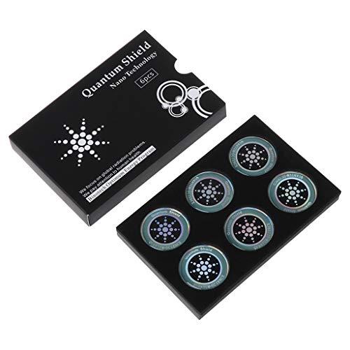 PENG 6Pcs / Set Ronda Quantum Shield Sticker Pegatinas de teléfono móvil para teléfono Celular de EMF Fusion Excel Protección contra la radiación
