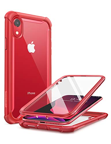 CapaCapinhaCaseforiPhoneXR2018,i-BlasonAres,CapaProtetoraparaiPhoneXR2018,CapaRobustaTransparenteparaoCorpoInteiro,comProtetordeTelaembutido(Vermelho)