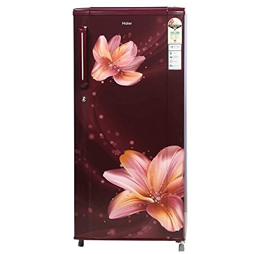 Haier 190 L 3 Star ( 2019 ) Direct Cool Single Door Refrigerator(HRD-1903BRO, Red Orchid/Ornate)