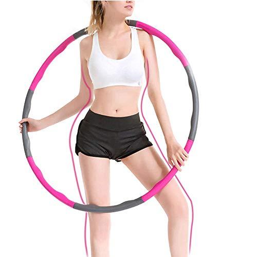 Xing Dong Sports Hula Hoop, Fitness Hula Hoop para la pérdida de Peso y Masaje, 8 segmentos Desmontables Hoola Hoop,para Deportes & Ejercicios Adecuado para Damas, Hombres, Niños (Pink)